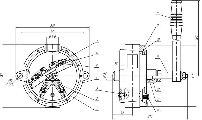 Ручной крыльчатый насос РК-2