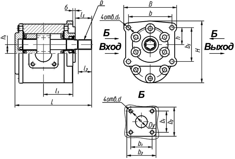 чертеж насоса НШ-50-3-М