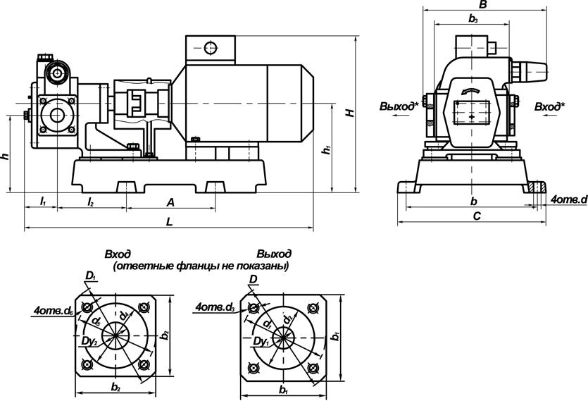 Схема насоса НШ 32.